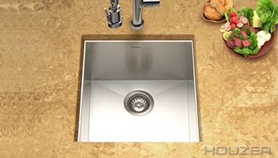 Houzer Contempo Zero Radius Undermount Prep Sink CTR-1700