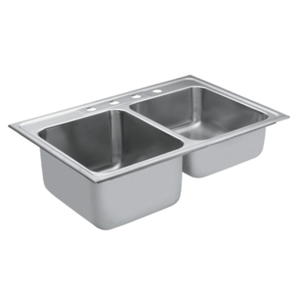 Double Bowl Stainless Steel Sink : Stainless Steel 20 Gauge Double Bowl Sink Stainless Sinks Stainless ...