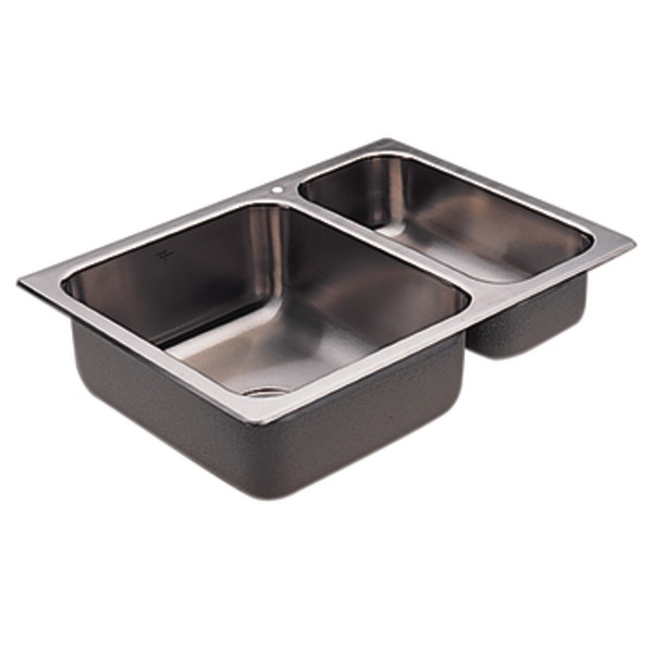 Moen 22236 Camelot Stainless Steel 20 Gauge Double Bowl Drop In Sink