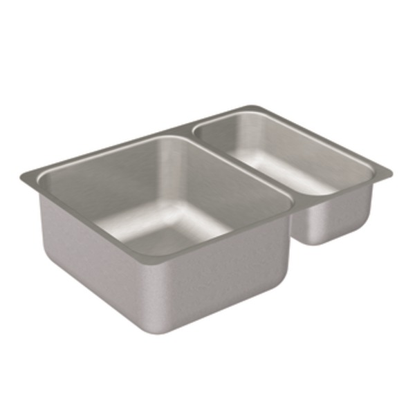 Moen 22239 Camelot Stainless Steel 20 Gauge Double Bowl Undermount Kitchen Sink