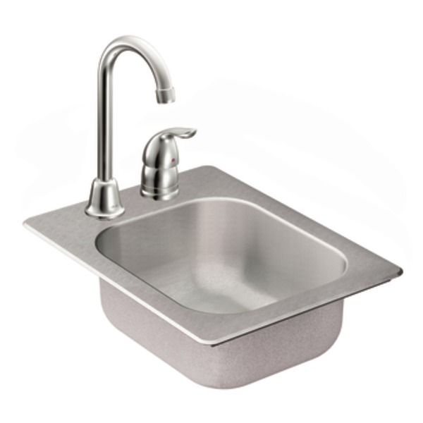 Moen 22245 Camelot Stainless Steel 20 Gauge Single Bowl Drop In Kitchen Sink