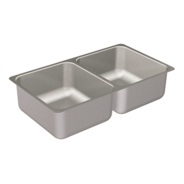Moen 22257 Camelot Stainless Steel 20 Gauge Double Bowl Undermount Kitchen Sink