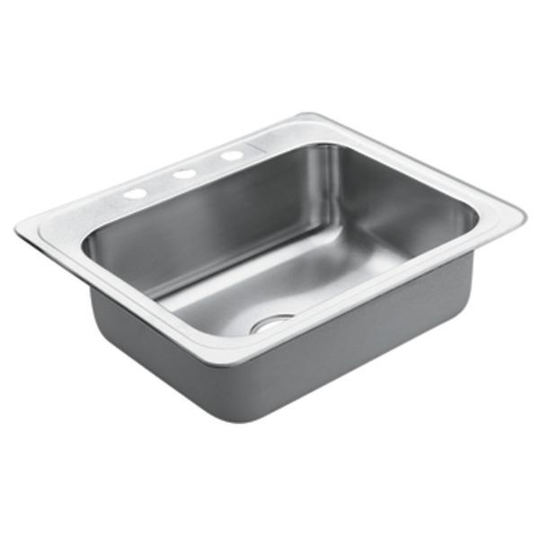 Moen 22831 Excalibur Stainless Steel 22 Gauge Single Bowl Drop In Sink***Discontinued***