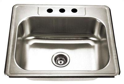 Alpha International D-231 Drop-In Single Bowl Stainless Steel Sink