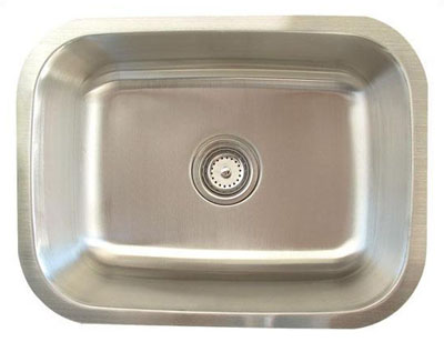 Alpha International U-231-16 Undermount Single Bowl Stainless Steel Sink