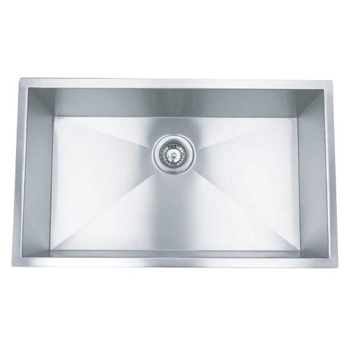 """26"""" Stainless Steel Zero Radius Undermount Kitchen Sink WC12S2620"""