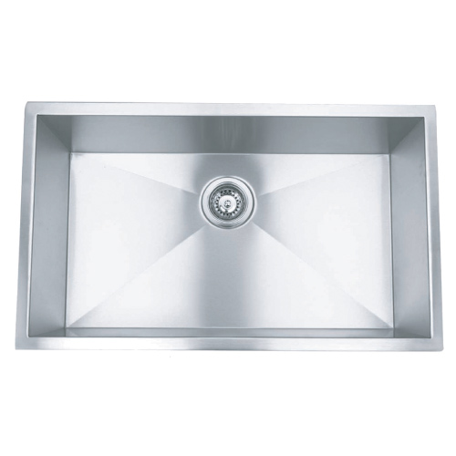 "30"" Stainless Steel Zero Radius Undermount Kitchen Sink WC12S3018"