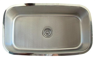 Alpha International U-232 Undermount Single Bowl Stainless Steel Sink
