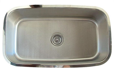 Alpha International U-232-16 Undermount Single Bowl Stainless Steel Sink