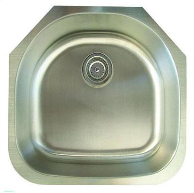 Alpha International U-234 Undermount Single Bowl Stainless Steel Sink