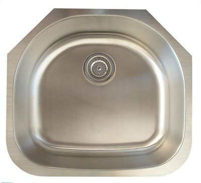 Alpha International U-235-16 Undermount Single Bowl Stainless Steel Sink