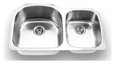 Suneli SM3320R Undermount Double Bowl Stainless Steel Sink