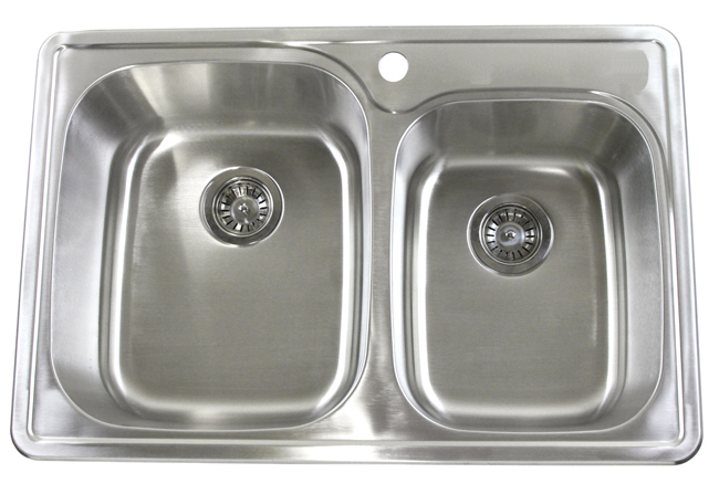stainless steel top mount kitchen sinks 33 quot top mount drop in stainless steel kitchen sink 9422