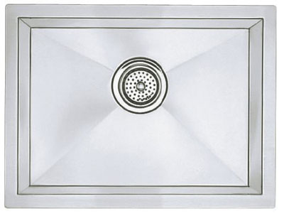 "Blanco Precision Undermount 16"" R10 Single Bowl Sink - 22"" Width"
