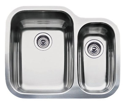 "Blanco Supreme Undermount 1-1/2"" Double Bowl - Depths 10""/6"""