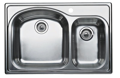 "Blanco Wave Plus Drop-In 33"" Bowl Sink"