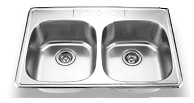 Suneli SM560-820D Topmount Double Bowl Stainless Steel Sink