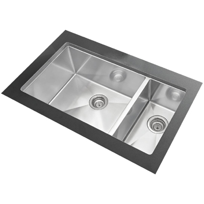 "Blanco Precision Undermount 16"" R10 1-1/2 Double Bowl Sink"