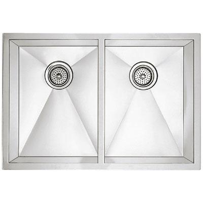 "Blanco Precision Undermount 16"" R10 Medium Equal Double Bowl Sink"
