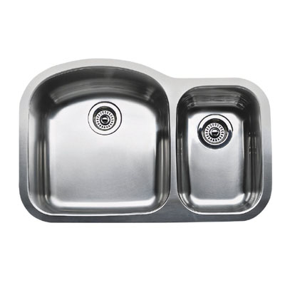 "Blanco Wave Plus MicroEdge Inset/Flushmount 1-1/2"" Double Bowl Sink"