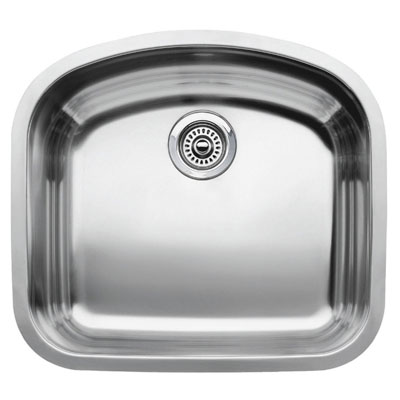 "Blanco Wave MicroEdge Undermount 22-7/16"" Inset/Flushmount Single Bowl Sink"