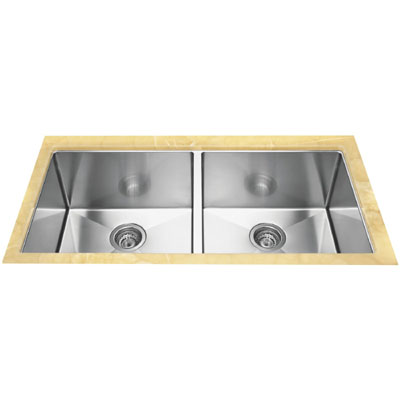 """Blanco 516219 Precision Undermount 16"""" R10 Large Equal Double Bowl Sink"""