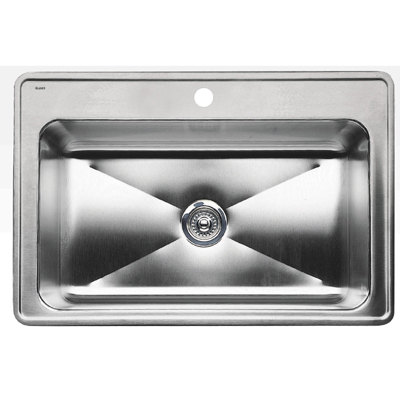 "Blanco Magnum Large Single Bowl Drop-In Sink - Depth 10"""