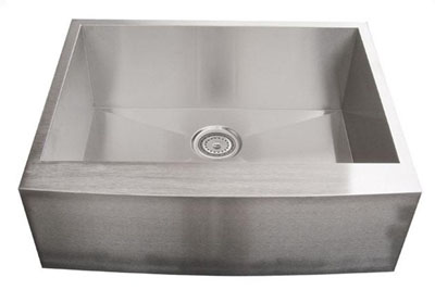 Alpha International AP2719 Apron Single Bowl Stainless Steel Sink