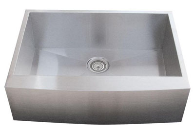 Alpha International AP3019 Apron Single Bowl Stainless Steel Sink