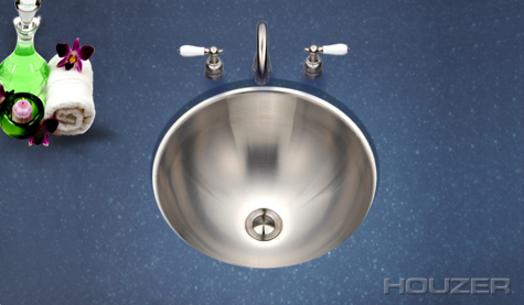 Houzer Club Undermount Lavatory Conical Bowl CR-1620-1