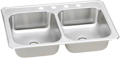 Elkay 33x22 Celebrity Topmount Double Bowl Stainless Steel Sink CR3322