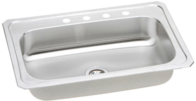 33x22 Stainless Steel Sink : Elkay 33x22 Celebrity Topmount Stainless Steel Single Bowl Sink ...