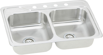 33x22 stainless steel kitchen sink elkay 33x22 bowl sink ecc3322 7333