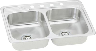Elkay Celebrity 33x22 Double Bowl Sink Ecc3322