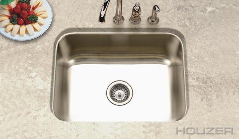 Houzer Elite Undermount Single Bowl ES-2408-1