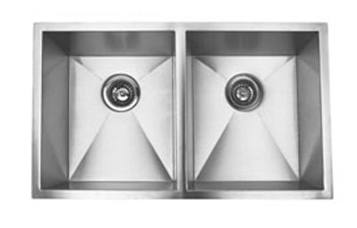 Suneli F3219D 16 Gauge Undermount Double Bowl Stainless Steel Sink
