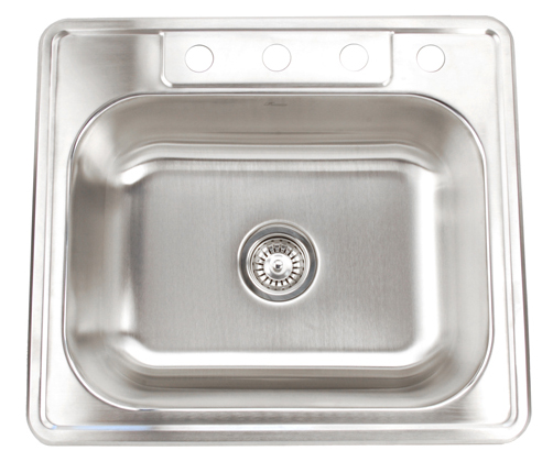 Fontaine 4-Hole Stainless Steel Drop-in Kitchen Sink