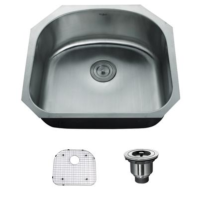 Kraus 23 Undermount Sink : Kraus 23 Inch Undermount Single Bowl 16 Gauge Stainless Steel Kitchen ...
