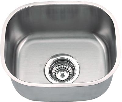 Suneli Undermount Single Bowl Kitchen/Bar Stainless Steel Sink - SM1512