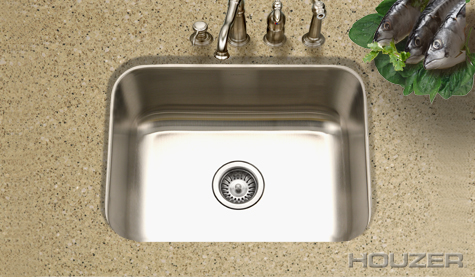 Houzer MS-2309 Undermount Single Bowl Stainless Steel Sink