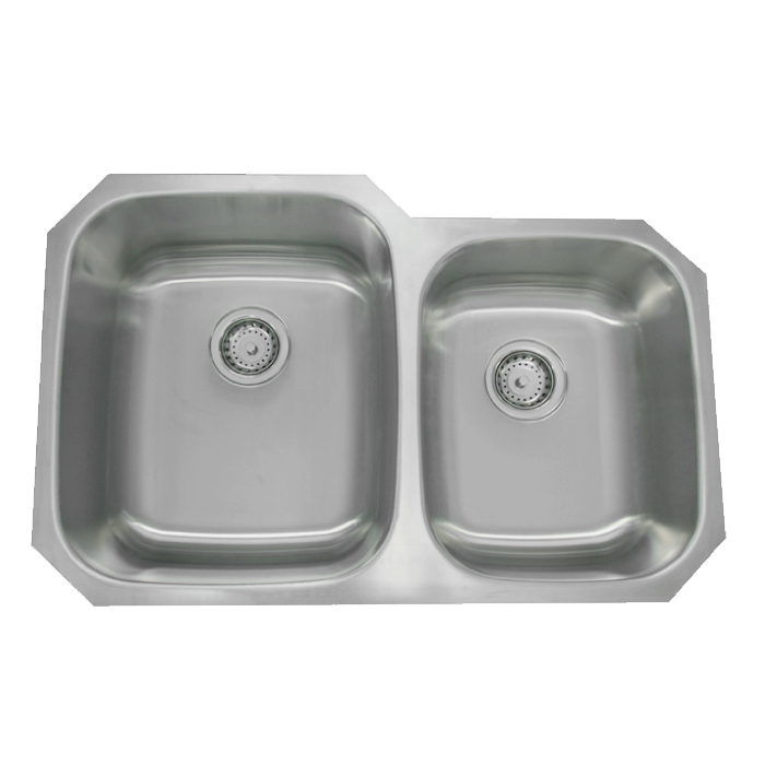 "32"" Stainless Steel Double Bowl Undermount Sink 60/40 PY-PSI001"