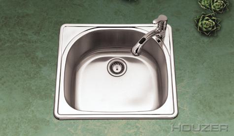 Houzer RMS-2522 Topmount Single Bowl Stainless Steel Sink