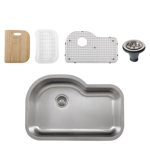Ticor S113 Undermount 16-Gauge Stainless Single Bowl Kitchen Sink ...
