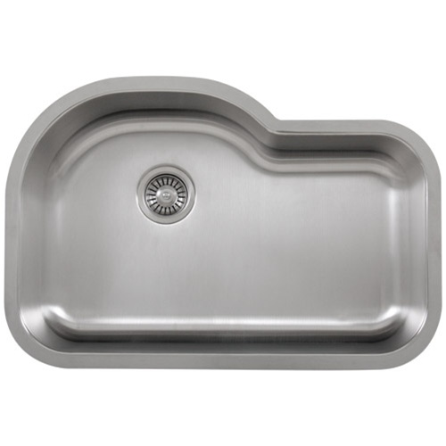 Ticor S113 Undermount 16-Gauge Stainless Single Bowl Kitchen Sink With Free Deluxe Strainer