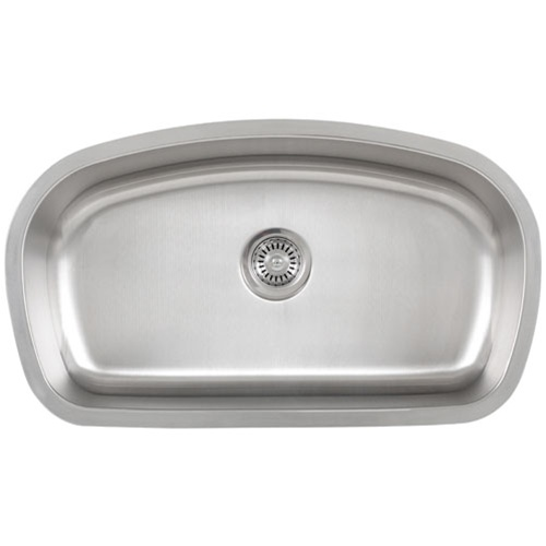 Ticor S115 Undermount 16-Gauge Stainless Single Bowl Kitchen Sink With Free Deluxe Strainer