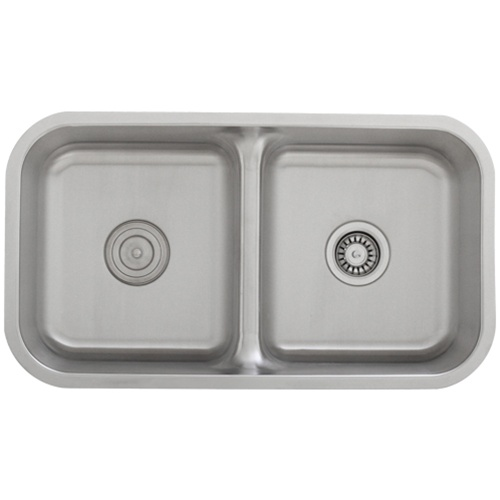 Ticor S1210 Low-Divide Undermount 16-Gauge Stainless Steel Kitchen Sink With Free Pullout Basket Strainer & Deluxe Strainer