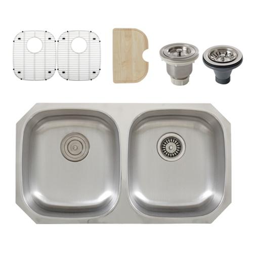 16 Ga Stainless Steel Sinks : ... Sinks / Ticor S205 Undermount 16-Gauge Stainless Steel Kitchen Sink
