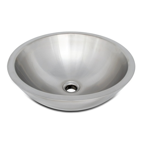 Ticor S2095 Vessel Stainless Steel Round Bathroom Sink