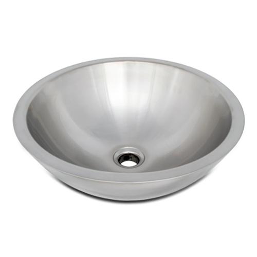 Stainless Steel Bathroom Sinks : ... Bowl Sinks / Ticor S2095 Vessel Stainless Steel Round Bathroom Sink