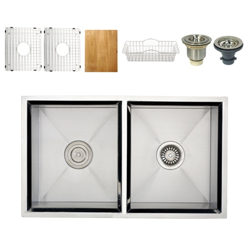 Ticor S308 Undermount 16-Gauge Stainless Steel Kitchen Sink  + Accessories